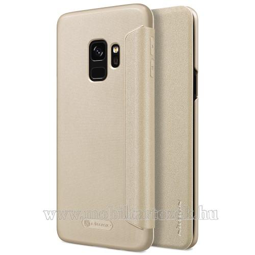 NILLKIN Sparkle notesz / mappa tok - ARANY - oldalra nyíló flip cover - SAMSUNG SM-G960 Galaxy S9 - GYÁRI