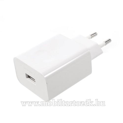 HUAWEI hálózati töltő USB aljzattal - SuperCharge gyorstöltés támogatás - 5V / 2A, 4.5V / 5A, 5V / 4.5A - FEHÉR - HW-050450E00 - GYÁRI