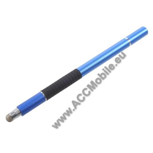 Érintőképernyő ceruza / golyós toll - kapacitív kijelzőhöz, KÉZÍRÁSRA, RAJZOLÁSRA ALKALMAS - SÖTÉTKÉK