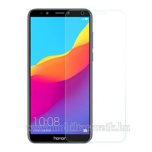 Előlap védő karcálló edzett üveg - 0,3 mm vékony, 9H, Arc Edge, A képernyő sík részét védi - HUAWEI Honor 7C (2018) / HUAWEI Enjoy 8 (2018) / HUAWEI Y7 Prime (2018)