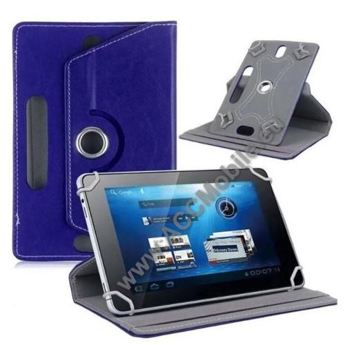 HUAWEI MediaPad T5 10UNIVERZÁLIS notesz / mappa tok - álló, oldalra nyíló, asztali tartó funkcióval, 360°-ban elforgatható - SÖTÉTKÉK - 9-10