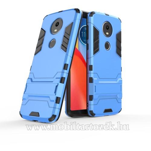 TRANSFORM műanyag védő tok / hátlap - VILÁGOSKÉK - szilikon betétes, kitámasztható - ERŐS VÉDELEM! - MOTOROLA Moto E5 Plus (2018)