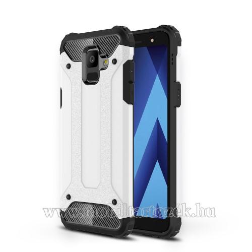 OTT! MAX DEFENDER műanyag védő tok / hátlap - FEHÉR - szilikon belső, ERŐS VÉDELEM! - SAMSUNG SM-A600F Galaxy A6 (2018)