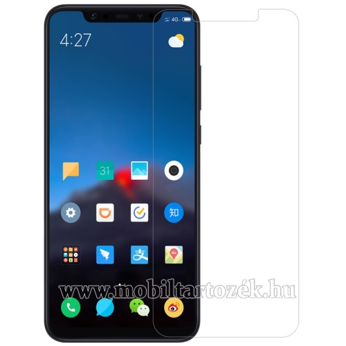 Előlapvédő karcálló edzett üveg - 0,3mm, 9H, Arc Edge, A képernyő sík részét védi - Xiaomi Mi 8 SE