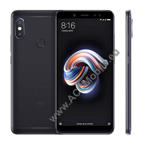 Xiaomi Redmi Note 5 Pro (Global version) / Xiaomi Redmi Note 5 (Global version) mobiltelefon készülék, DUAL SIM, 3/32GB, Fekete