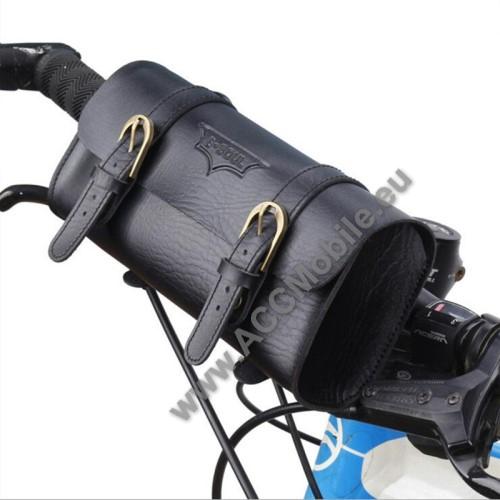 Univerzális fekvő tok, táska, biciklire szerelhető - 220 x 50 x 50 mm - FEKETE