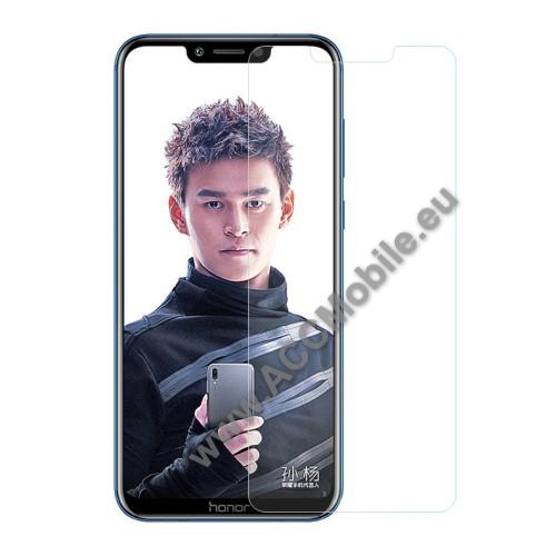 Előlap védő karcálló edzett üveg - 0,3 mm vékony, 9H, Arc Edge - HUAWEI Honor Play (2018)
