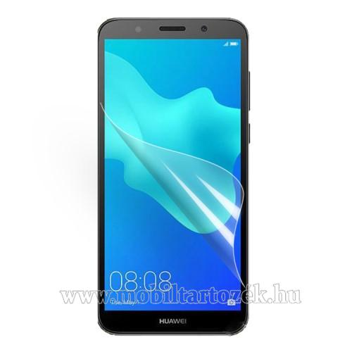 Képernyővédő fólia - Clear - 1db, törlőkendővel - HUAWEI Y5 (2018) / HUAWEI Y5 Prime (2018) / HUAWEI Honor 7s / HUAWEI Honor Play 7
