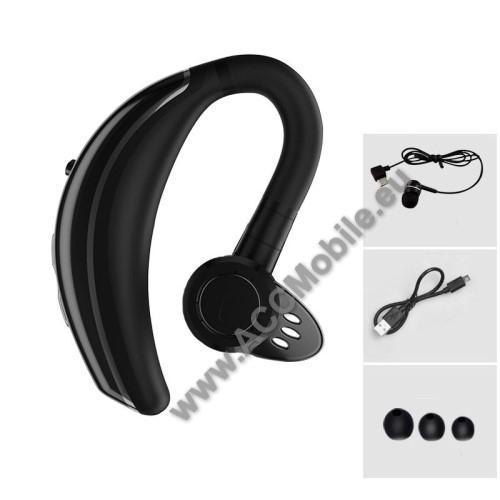 Q8 Bluetooth headset - FEKETE - V4.1, IPX6 vízállóság, felvevő gomb, mikrofon, egyszerre 2 különböző telefonnal használható!