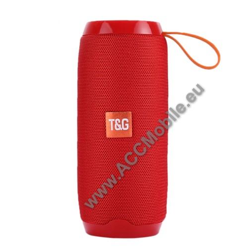 Hordozható Bluetooth hangszóró - Bluetooth V4.2, beépített mikrofon, 3,5mm AUX, USB port, TF kártyafoglalat, beépített 1200mAh akkumulátor - PIROS