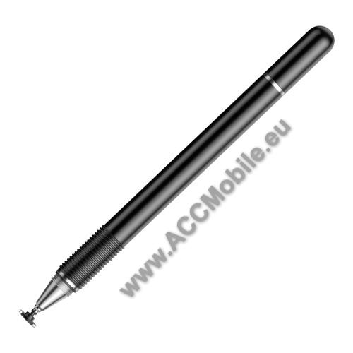 BASEUS érintőképernyő ceruza / golyós toll - kapacitív kijelzőhöz, KÉZÍRÁSRA, RAJZOLÁSRA ALKALMAS - FEKETE - GYÁRI