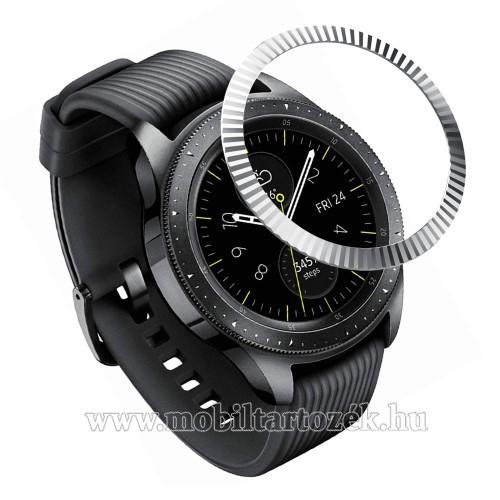 Okosóra lünetta védő alumínium - EZÜST - SAMSUNG Galaxy Watch 42mm