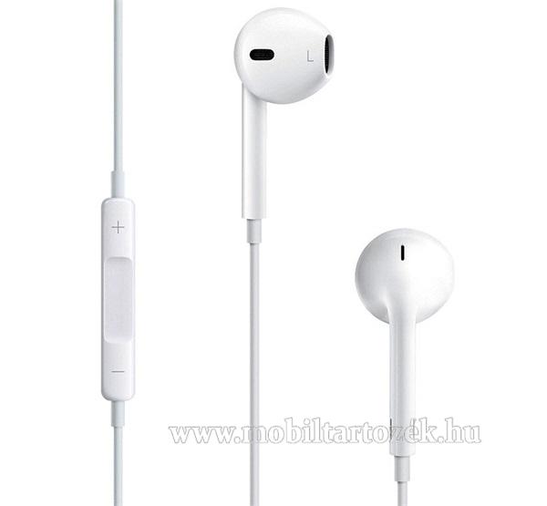 APPLE sztereo headset - 3.5mm jack, mikrofon, felvevő gomb, hangerőszabályzó - FEHÉR - MD827ZM/A - GYÁRI - Csomagolás nélküli