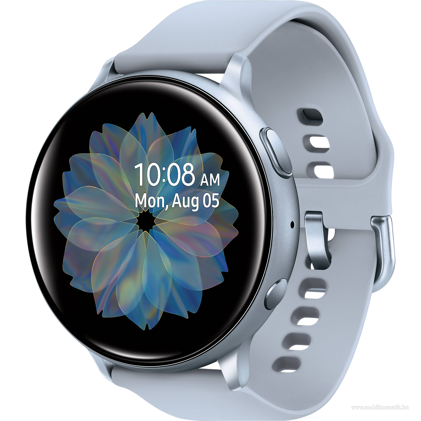 SAMSUNG Galaxy Watch Active 2 okosóra (44 mm, alumínium, szilikon szíj) EZÜST