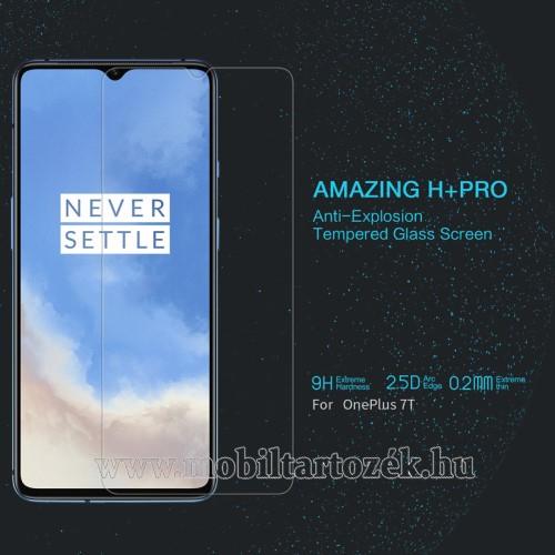 NILLKIN Amazing H+PRO előlap védő karcálló edzett üveg - 0.2mm, 9H, A képernyő sík részét védi - OnePlus 7T - GYÁRI