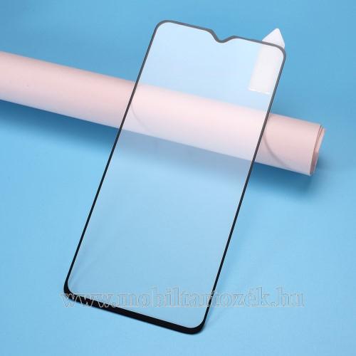 RURIHAI 3D előlap védő karcálló edzett üveg, 0.26mm - FEKETE - Xiaomi Redmi Note 8 Pro - A TELJES KIJELZŐT VÉDI! - GYÁRI