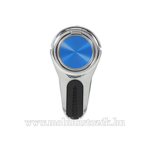 Fém ujjtámasz, gyűrű tartó - Biztos fogás készülékéhez, szellőző rácsra tehető autós tartó funkció - EZÜST