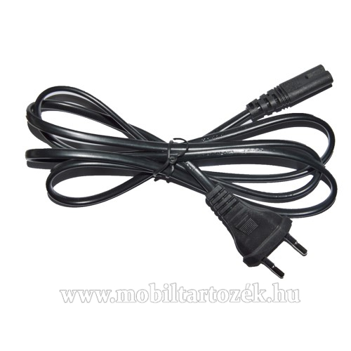 Hálózati 2 eres tápkábel - 2.5A / 250V / 50Hz ~150cm - FEKETE
