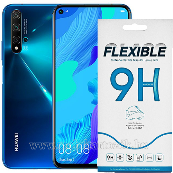 Flexible 9H Nano Glass rugalmas edzett üveg képernyővédő fólia, 0,15 mm vékony, a képernyő sík részét védi - HUAWEI Honor 20 / HUAWEI Honor 20S / HUAWEI nova 5T/ HUAWEI Honor 20 Pro