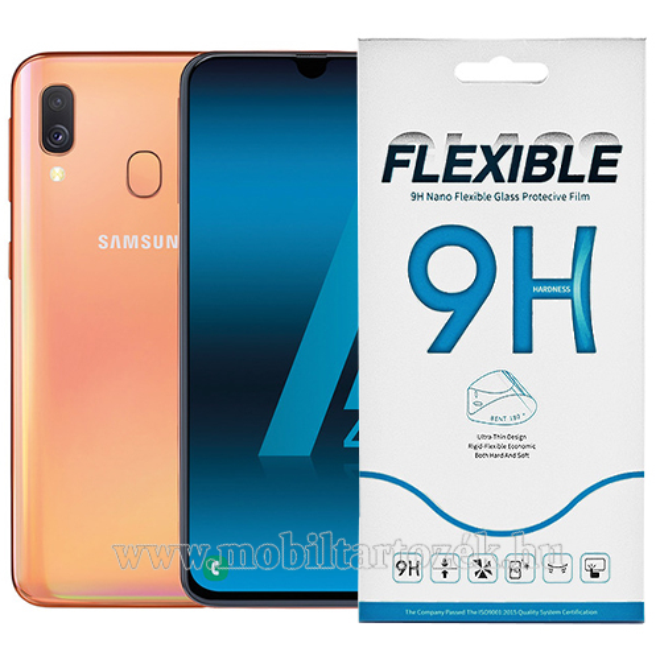 Flexible 9H Nano Glass rugalmas edzett üveg képernyővédő fólia, 0,15 mm vékony, a képernyő sík részét védi - SAMSUNG SM-A405F Galaxy A40