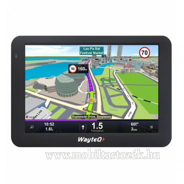 WayteQ X995 8GB + Sygic 3D Teljes Európa (Élettartam frissítéssel), Android rendszer, nem TMC képes - WX9953D - GYÁRI