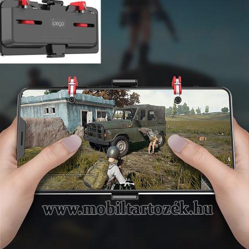 IPEGA UNIVERZÁLIS Kontroller / Joystick - ravasz FPS játékokhoz, gamepad, 67-87mm-ig állítható bölcső, kompatibilis telefon vastagság 7,30-8,80 mm - FEKETE - GYÁRI