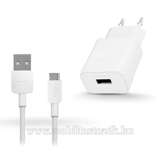 HUAWEI hálózati töltő - 5V/2A, USB aljzat, 1m-es microUSB 2.0 adatátviteli / töltő kábellel - FEHÉR - HW-050200E02 - GYÁRI - Csomagolás nélküli