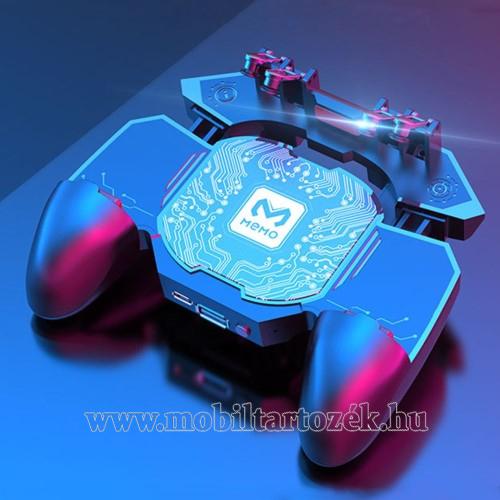 MEMO DL88 UNIVERZÁLIS Kontroller / Joystick - ravasz FPS játékokhoz, gamepad, beépített hűtőventilátor, beépített akkumulátor tölthető a telefon játék közben, PUBG-hez ajánlott, 67-90mm nyíló bölcső, 4,7-6.5