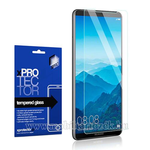 Xpro előlap védő karcálló edzett üveg - 0,33 mm vékony, 9H, Arc Edge, A képernyő sík részét védi - HUAWEI Mate 10 Pro - GYÁRI