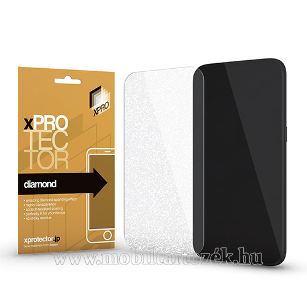 Xpro Diamond képernyővédő fólia - CSILLOGÓ - 1db, törlőkendővel, A képernyő sík részét védi! - HUAWEI Mate 10 Pro - GYÁRI