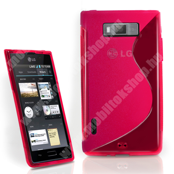 LG P700 Optimus L7 - telefonv�d� gumi / szilikon tok (F�NYES/MATT EXKLUZ�V DESIGN) - R�ZSASZ�N