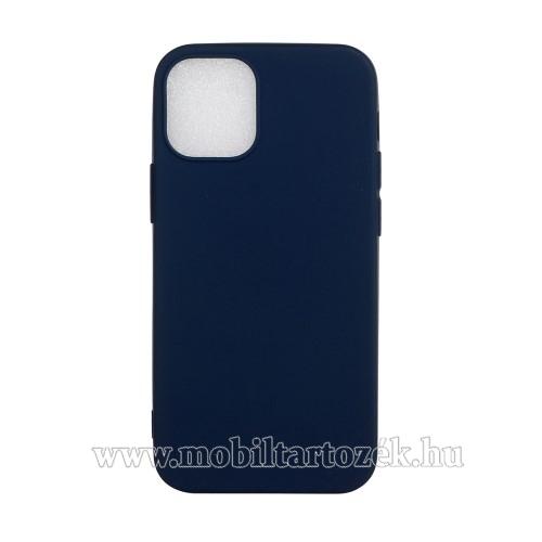 Szilikon védő tok / hátlap - FLEXI - SÖTÉTKÉK - APPLE iPhone 12 mini