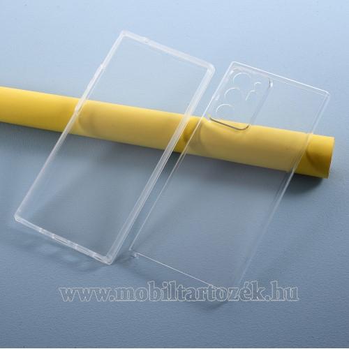 Szilikon védő tok / műanyag hátlap - szilikon előlap és műanyag hátlap védő, 360 fokos védelem! - ÁTLÁTSZÓ - SAMSUNG Galaxy Note20 Ultra (SM-N985F)