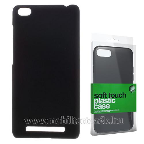 Xpro műanyag védő tok / hátlap - FEKETE - Soft-touch felülettel - XIAOMI Redmi 3 - GYÁRI