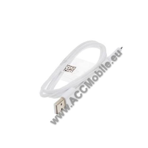 SAMSUNG ECB-DU4AWE adatátvitel adatkábel, töltő funkcióval - USB / microUSB, 100cm - FEHÉR - GYÁRI - Csomagolás nélküli