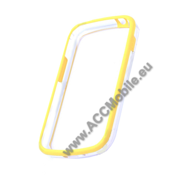 Gumi / szilikon keret - BUMPER - S�RGA - SAMSUNG GT-S7560 Galaxy Trend / SAMSUNG GT-S7562 Galaxy S Duos / SAMSUNG GT-S7582 Galaxy Trend Plus