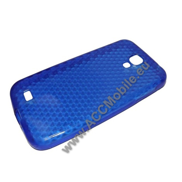 Szilikon védõ tok / hátlap - gyémántmintás - SAMSUNG GT-I9500 / I9502 / I9505 Galaxy S IV. - KÉK