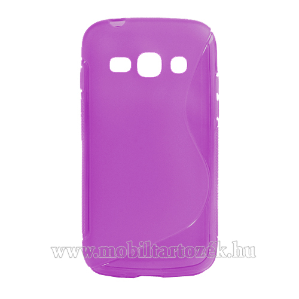 EXKLUZÍV telefonvédõ gumi / szilikon tok (FÉNYES/MATT) - LILA - SAMSUNG GT-S7270 / S7272 / S7275 Galaxy Ace 3