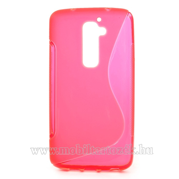 EXKLUZÍV telefonvédõ gumi / szilikon tok (FÉNYES/MATT) - RÓZSASZÍN - LG G2 (D802)