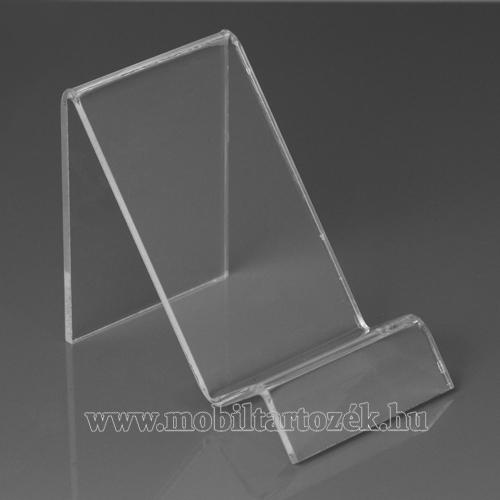 Asztali tartó / állvány - 6cm széles, 7,5cm magas - ÁTLÁTSZÓ PLEXI
