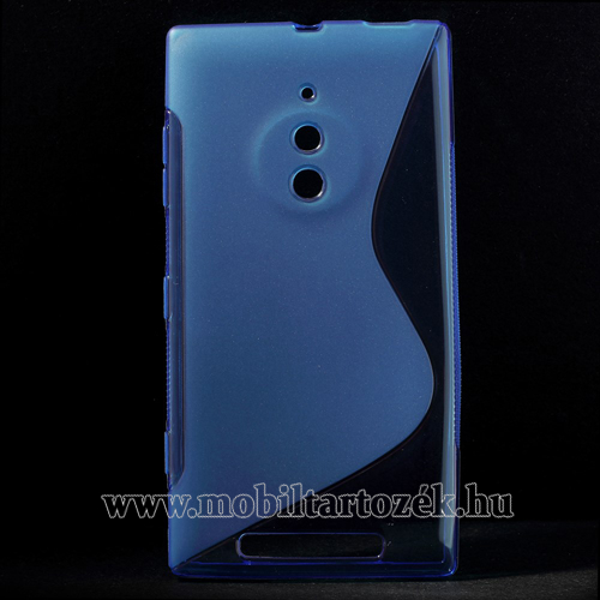 Szilikon védõ tok / hátlap - FÉNYES/MATT - KÉK - NOKIA Lumia 830