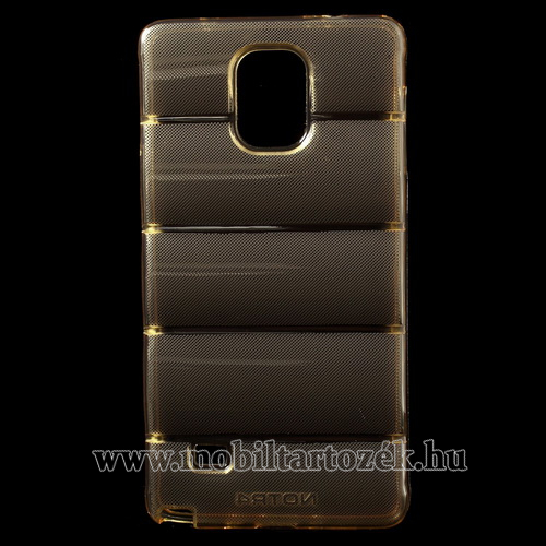 BODY ARMOR szilikon v�d� tok - TPU - ARANY - SAMSUNG SM-N910C Galaxy Note 4.
