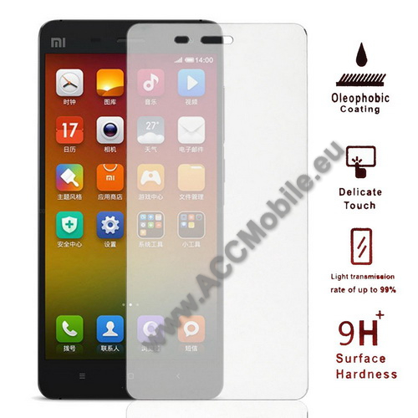 Előlap védő karcálló edzett üveg - 9H - Xiaomi MI-4