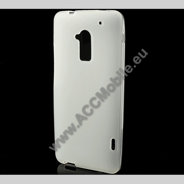 Szilikon védõ tok / hátlap - MATT - FEHÉR - HTC One Max