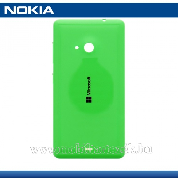 Akkufedél - oldalgombokkal - 8003487 - ZÖLD - MICROSOFT Lumia Lumia 535 - GYÁRI