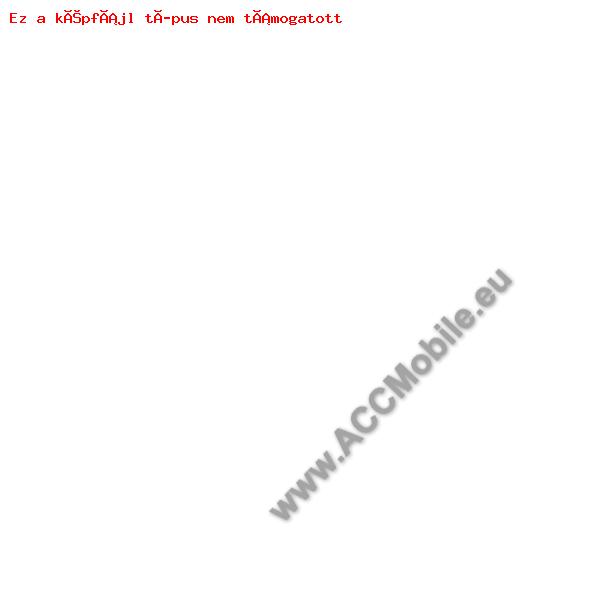 Notesz tok / flip tok - VIRÁG / PILLANGÓ MINTÁS - asztali tartó funkciós, oldalra nyíló, rejtett mágneses záródás, bankkártya tartó zseb - FEHÉR / RÓZSASZÍN - APPLE iPhone 6