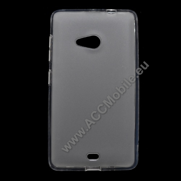 Szilikon védő tok / hátlap - FLEXI - FEHÉR - MICROSOFT Lumia 535