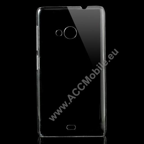 Műanyag védő tok / hátlap - CRYSTAL HARD CASE - ÁTLÁTSZÓ - MICROSOFT Lumia 535