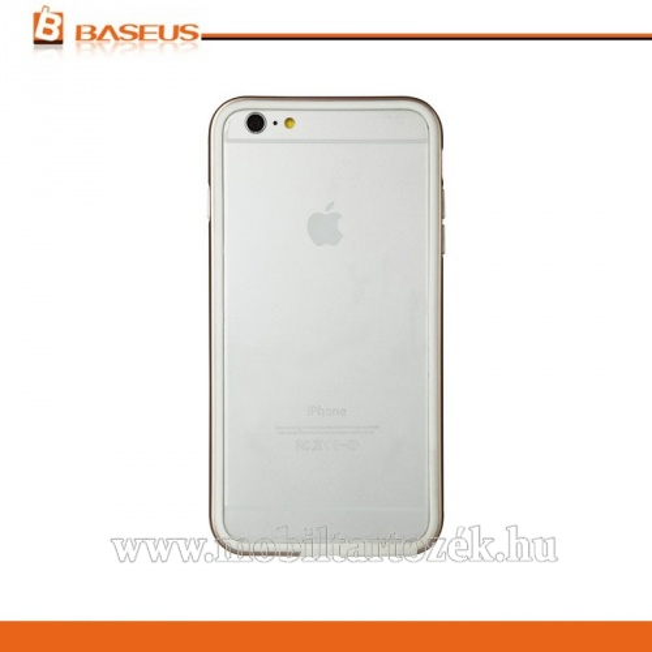 BASEUS FANYI műanyag védő keret - BUMPER - szilikon betétes - FRAPIPH6P-HT0V - ARANY - APPLE iPhone 6 Plus