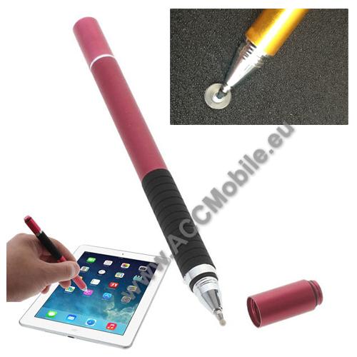 HUAWEI P8Érintőképernyő ceruza / golyós toll - kapacitív kijelzőhöz, KÉZÍRÁSRA, RAJZOLÁSRA ALKALMAS - PIROS